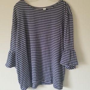 Blues striped blouse